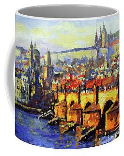 Prague Panorama Charles Bridge Coffee Mug