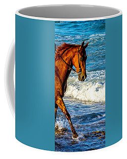 Prancing In The Sea Coffee Mug by Shannon Harrington