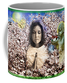 Pray For Peace Coffee Mug by Ted Azriel