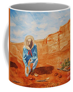 Coffee Mug featuring the painting Prayer For Earth Mother by Ellen Levinson