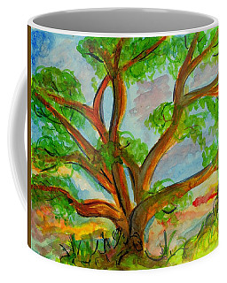 Prayer Mountain Tree Coffee Mug