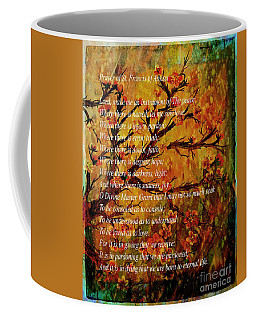 Prayer Of St. Francis Of Assisi  And Cherry Blossoms Coffee Mug