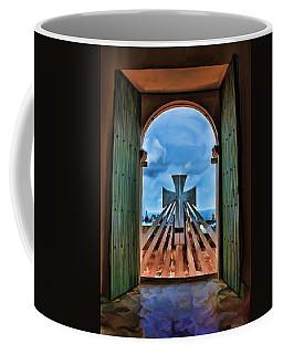 Coffee Mug featuring the painting Prayers For Cartegena by Deborah Boyd