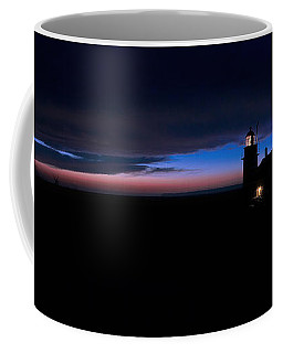 Pre Dawn Light Panorama At Quoddy Coffee Mug by Marty Saccone