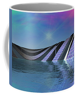 Coffee Mug featuring the digital art Precious Water Alien Landscape by Judi Suni Hall