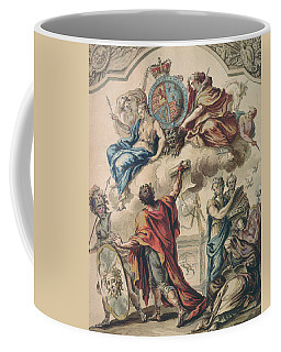 Preliminary Design For A Panel For A Royal State Coach For George I, 18th Century Coffee Mug
