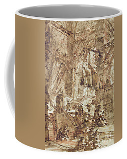 Preparatory Drawing For Plate Number Viii Of The Carceri Al'invenzione Series Coffee Mug