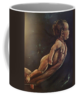 Coffee Mug featuring the pastel Presenting Life by Peter Suhocke