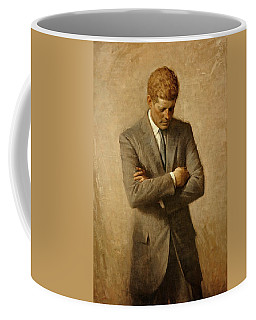 President John F. Kennedy Official Portrait By Aaron Shikler Coffee Mug