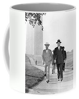 President Truman On A Walk Coffee Mug