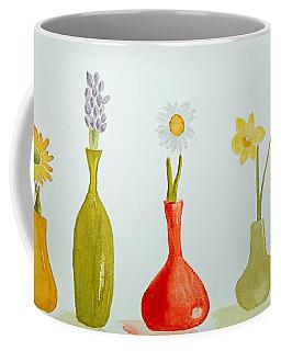 Pretty Flowers In A Row Coffee Mug by Elvira Ingram