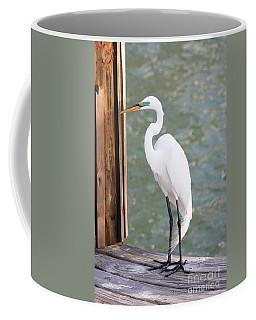 Pretty Great Egret Coffee Mug