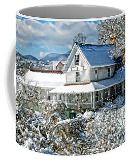 Coffee Mug featuring the photograph Pretty In White by Kenny Francis