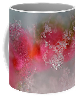 Coffee Mug featuring the photograph Pretty Little Snowflakes by Lauren Radke