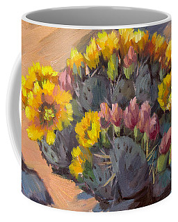 Prickly Pear Cactus In Bloom Coffee Mug
