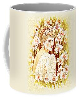 Coffee Mug featuring the painting Princess Diana by Irina Sztukowski