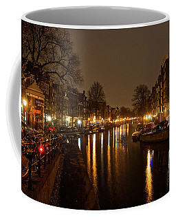 Prinsengracht Canal After Dark Coffee Mug by Jonah  Anderson
