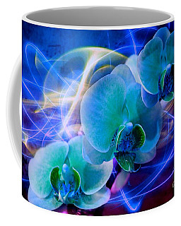 Coffee Mug featuring the photograph Prismatic Orchid Swirl by Judy Palkimas
