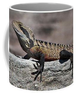 Coffee Mug featuring the photograph Profile Of A Waterdragon by Miroslava Jurcik