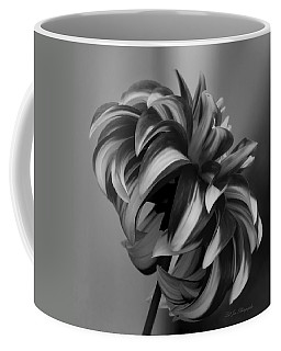 Profile Of Not Santa Two In Black And White Coffee Mug by Jeanette C Landstrom