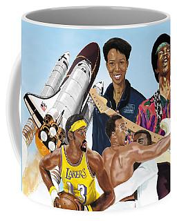 Coffee Mug featuring the digital art Jimi, Muhammad Ali, Wilt Chamberlain And Mae Carol Jemison by Thomas J Herring