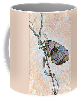 Coffee Mug featuring the painting Promethea Moth by Katherine Miller