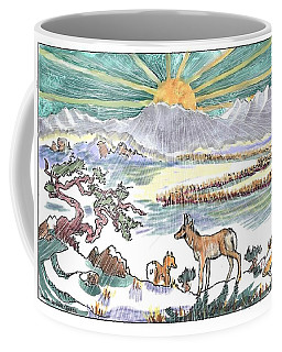Pronghorn Winter Sunrise Coffee Mug