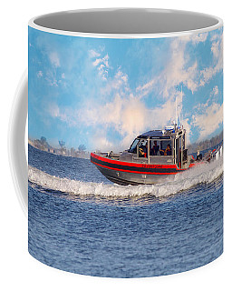 Coffee Mug featuring the photograph Protecting Our Waters - Coast Guard by Kim Hojnacki