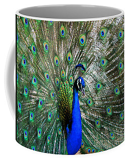 Proud Peacock Coffee Mug by Laurel Powell