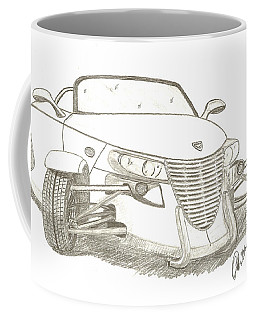 Prowler Sketch Coffee Mug by Chris Thomas