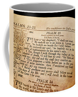 Psalm 23 - The Lord Is My Shepherd Coffee Mug