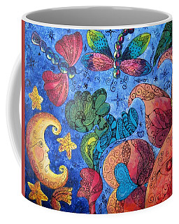 Psychedelic Dreamscape Coffee Mug by Megan Walsh
