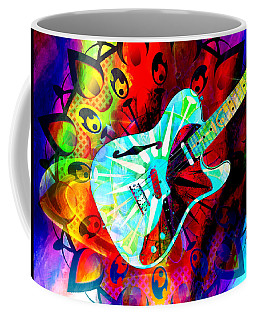 Psychedelic Guitar Coffee Mug