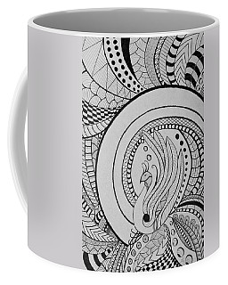 Zentangle Peacock Art Drawing Coffee Mug