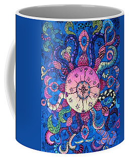 Psychedelic Squid Coffee Mug by Megan Walsh