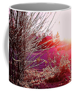 Coffee Mug featuring the photograph Psychedelic Winter   by Martin Howard