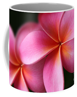 Pua Lei Aloha Cherished Blossom Pink Tropical Plumeria Hina Ma Lai Lena O Hawaii Coffee Mug