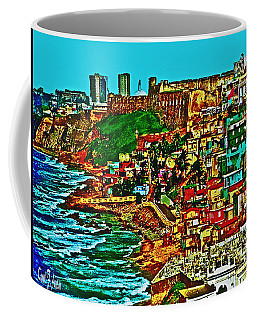 Old San Juan Puerto Rico Walled City Coffee Mug by Carol F Austin
