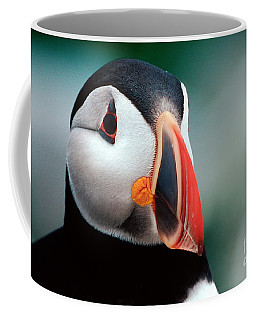 Puffin Head Shot Coffee Mug by Jerry Fornarotto