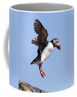Puffin In Flight Coffee Mug