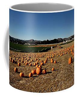 Coffee Mug featuring the photograph Pumpkin Field by Michael Gordon