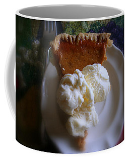 Pumpkin Pie A' La Mode Coffee Mug by Kay Novy