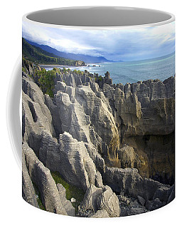 Coffee Mug featuring the photograph Punakaiki Pancake Rocks #2 by Stuart Litoff