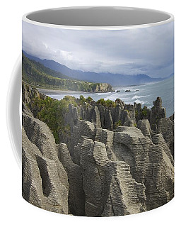 Coffee Mug featuring the photograph Punakaiki Pancake Rocks by Stuart Litoff