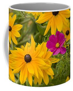 Purple And Yellow Flowers Coffee Mug