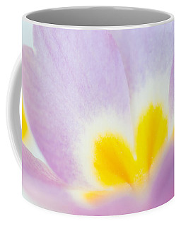Purple And Yellow Primrose Petals - Bright And Soft Spring Flower Coffee Mug