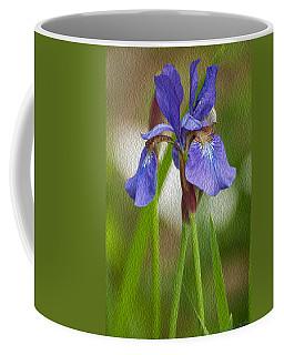 Purple Bearded Iris Oil Coffee Mug