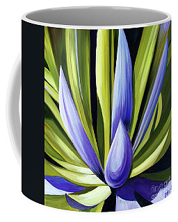 Coffee Mug featuring the painting Purple Cactus by Debbie Hart