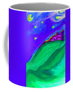 Coffee Mug featuring the painting Purple Castle By Jrr by First Star Art
