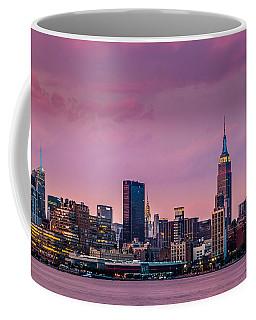 Purple City Coffee Mug by Mihai Andritoiu